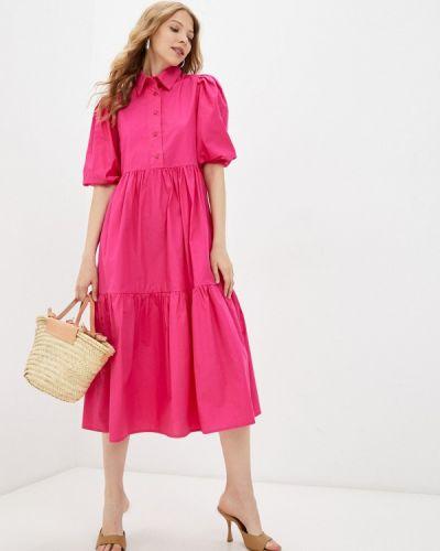 Розовое платье рубашка Pinkkarrot