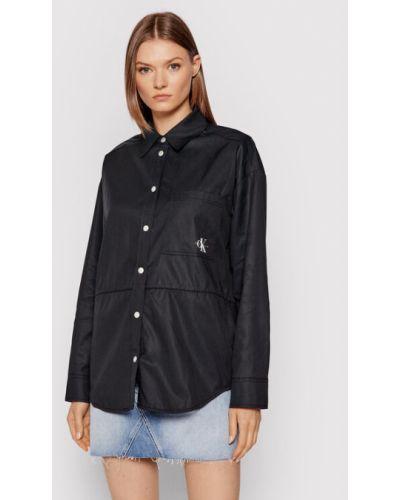 Koszula oversize - czarna Calvin Klein Jeans