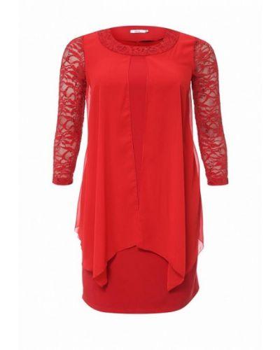 Платье миди красный Lina