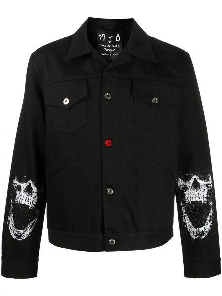 Czarna klasyczna koszula bawełniana z długimi rękawami Mjb Marc Jacques Burton