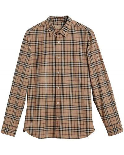 Классическая рубашка в клетку с длинным рукавом Burberry