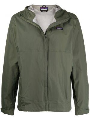 Зеленая куртка с капюшоном с нашивками Patagonia