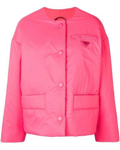 Дутая куртка - розовая Prada