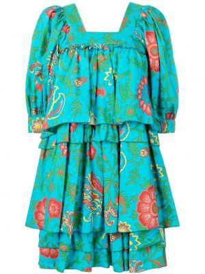 Драповое приталенное платье мини с драпировкой с вырезом La Doublej