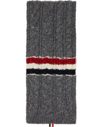 Шерстяной шарф прямоугольный в полоску Thom Browne