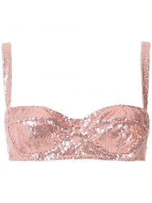 Розовый бюстгальтер балконет с чашками на крючках Dolce & Gabbana