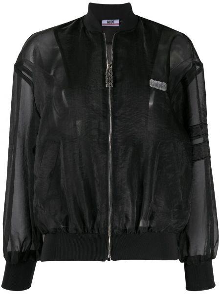 Хлопковая черная длинная куртка с манжетами Gcds