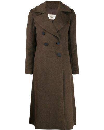 Длинное пальто шерстяное двубортное Jovonna