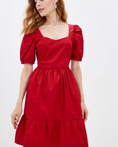 Прямое платье - красное Ostin