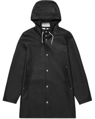 Klasyczny czarny płaszcz z kapturem Stutterheim