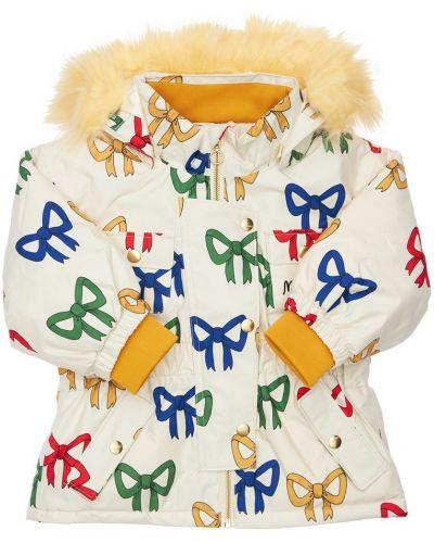 Куртка с капюшоном - белая Mini Rodini