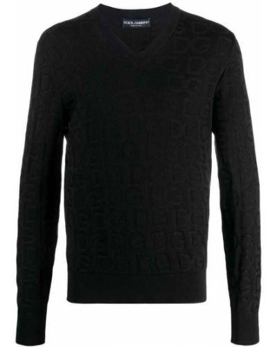 Czarny pulower Dolce And Gabbana