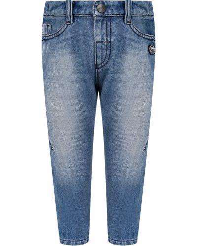 Хлопковые джинсы Armani Junior