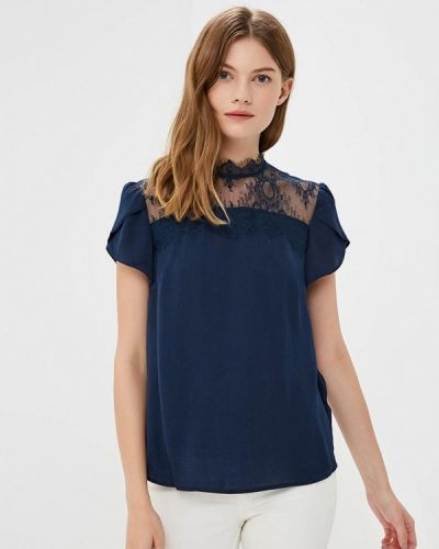 Синяя блузка кружевная Zarina