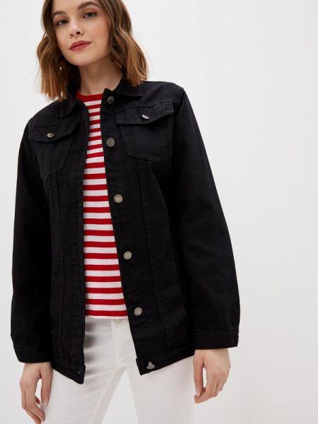 Джинсовая куртка черная весенняя Haily's