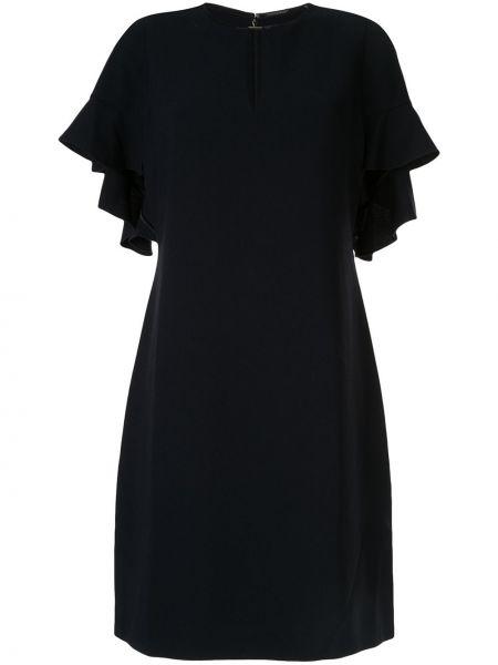 Czarna sukienka mini krótki rękaw Elie Tahari