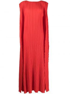 Красное платье с круглым вырезом Bambah