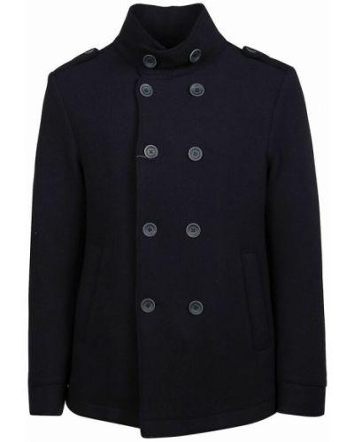Płaszcz wełniany - niebieski Herno