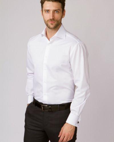 Рубашка с длинным рукавом с манжетами под запонки прямая канцлер