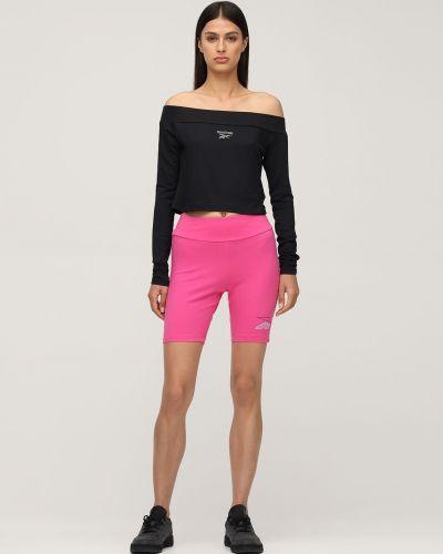 Розовые шорты эластичные Reebok Classics