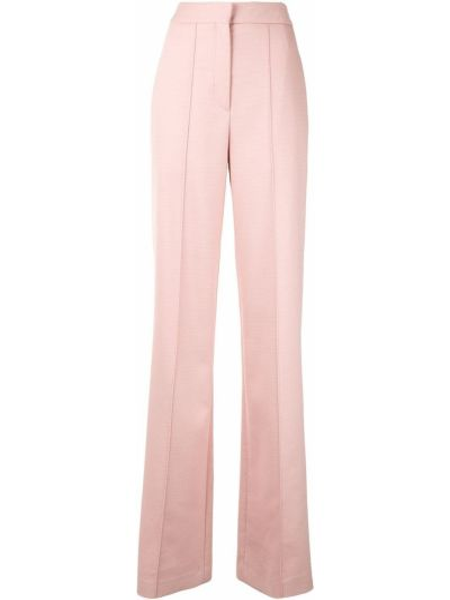 Шерстяные деловые розовые брюки свободного кроя Adam Lippes