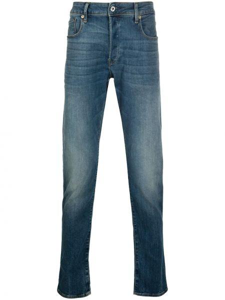Хлопковые синие джинсы на пуговицах G-star Raw