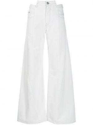 Широкие джинсы с завышенной талией - белые Maison Margiela