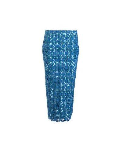 Хлопковая синяя юбка миди Stella Jean