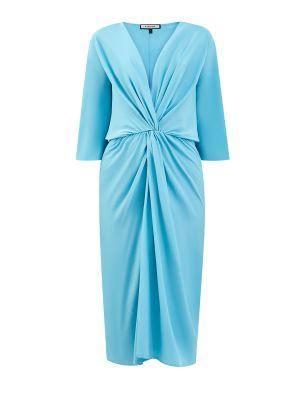 Шелковое платье - голубое Fisico