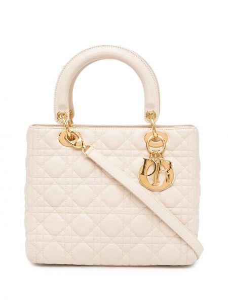 Biała złota torebka Christian Dior