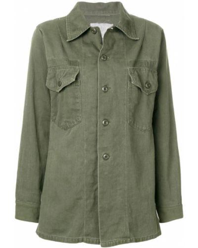Свободная рубашка хаки на пуговицах As65