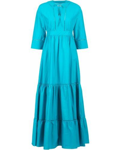 Платье макси с поясом с воротником Twin-set