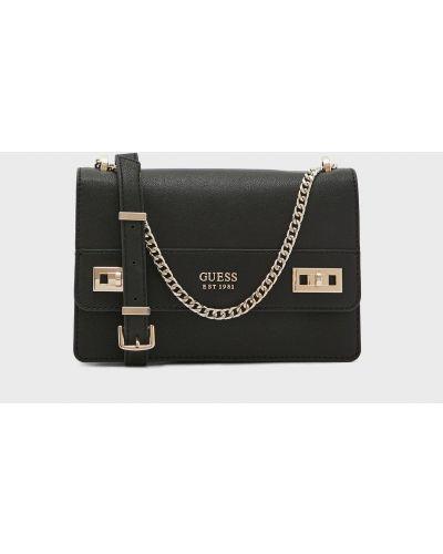 Черная сумка на цепочке Guess