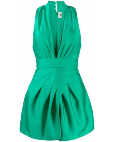 Платье мини с V-образным вырезом для невысоких Fausto Puglisi