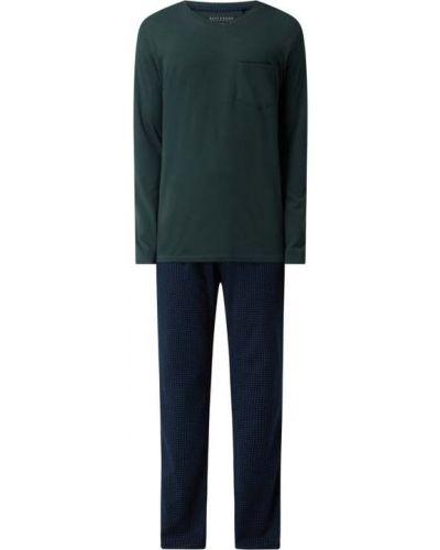 Zielona piżama z długimi rękawami Schiesser