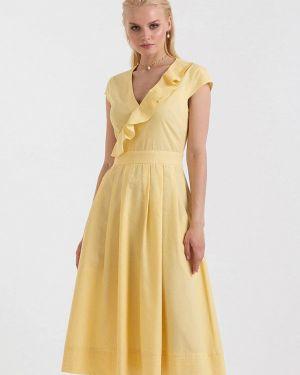Платье прямое желтый Lova