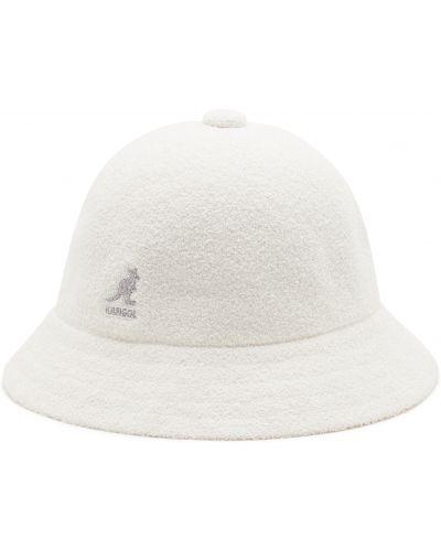 Biała czapka z akrylu na co dzień Kangol