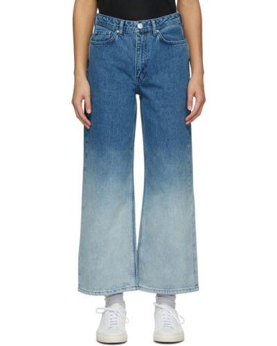 Расклешенные синие джинсы с карманами Won Hundred