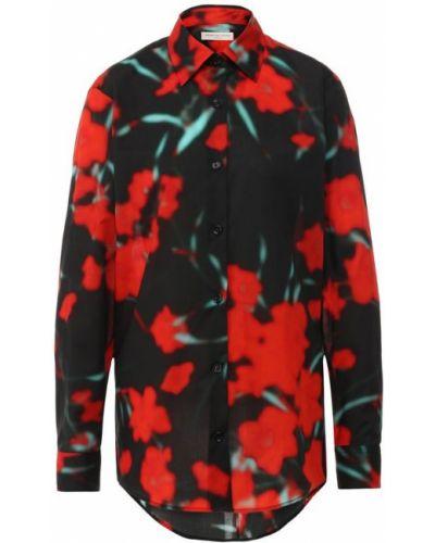 Рубашка с длинным рукавом с принтом с цветочным принтом Dries Van Noten
