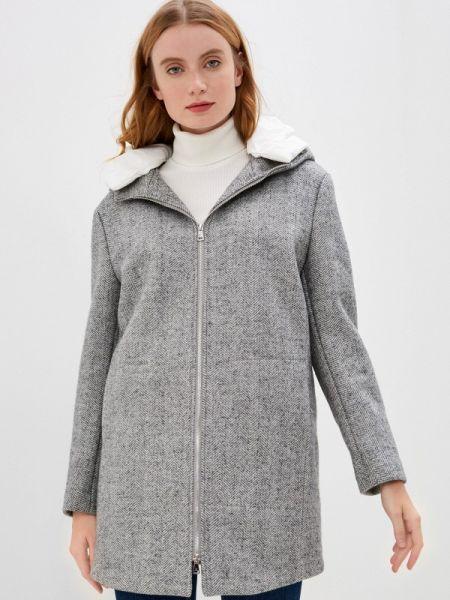 Серое зимнее пальто с капюшоном Mezzatorre