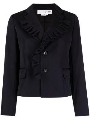 Шерстяной черный удлиненный пиджак на пуговицах Comme Des Garçons Girl