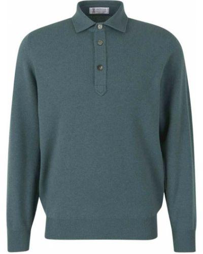Niebieska koszulka Brunello Cucinelli