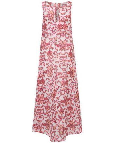 Льняное платье - розовое La Fabbrica Del Lino