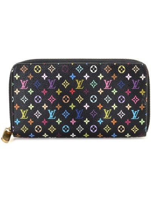 Черный кожаный кошелек прямоугольный Louis Vuitton