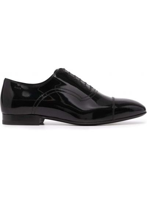 Кожаные черные оксфорды на каблуке Bally