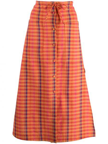 Niebieska spódnica w kratę Altuzarra