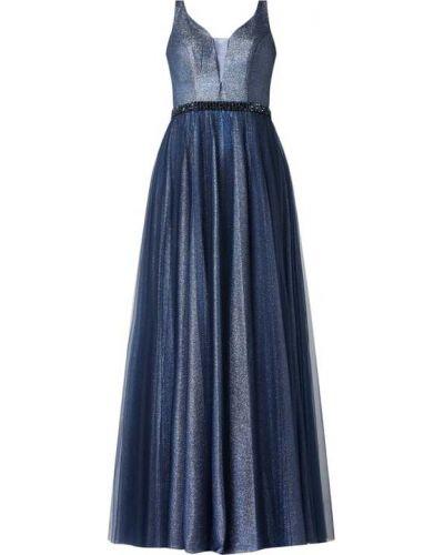 Niebieska sukienka wieczorowa Mascara
