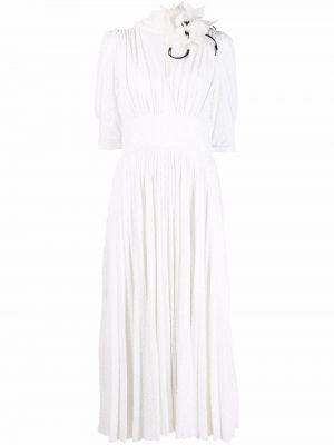 Белое платье на молнии Elie Saab