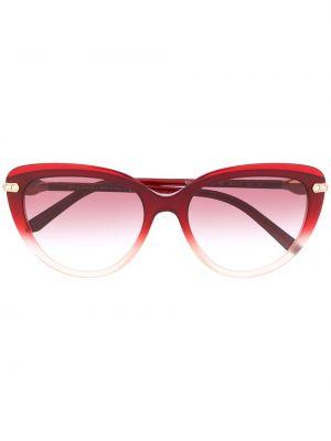 Красные солнцезащитные очки оверсайз Bvlgari