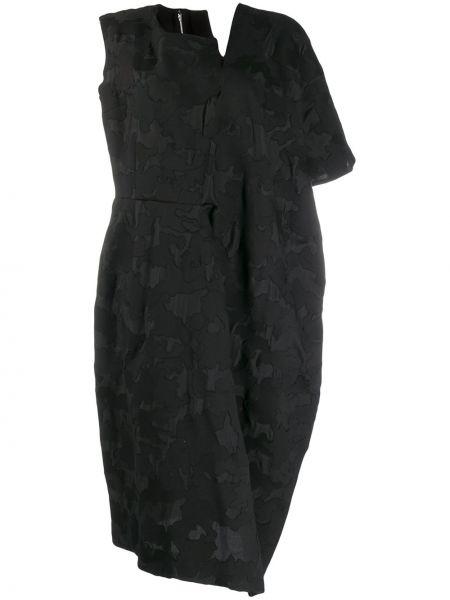 Хлопковое платье миди - черное Comme Des Garçons